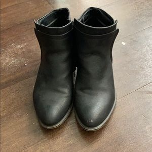 Black ankle boots by Madden Girl.